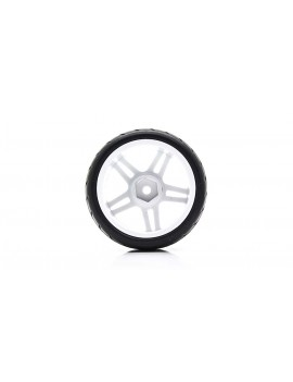 905W-6083 Rubber + Plastic Tyres for 1:10 R/C On-Road Car (4-Pack)