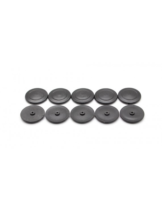 #30 Thin Replacement Tyres for Toy Vehicle DIY (10-Pack)