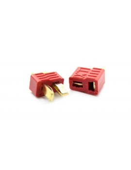 Anti-slip T-style Male and Female Connectors Plugs (2-Pack Set)