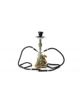 Ca-mel Style 2-Hose Resin Smoking Filter Shisha Hookah w/ Charcoal Tong