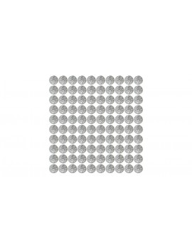 Authentic Clrane Metal Smoking Pipe Filter Mesh Ball (100-Pack)